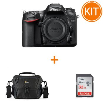 Kit-Nikon-D7200-Body---card-SDHC-Ultra-32GB-80MB-Sandisk---Geanta-Foto-Lowepro-Nova-160-AW-II