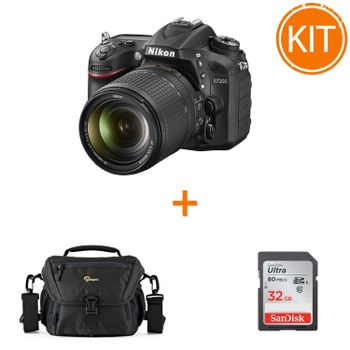 Kit-Nikon-D7200-18-140mm-VR---card-SDHC-Ultra-32GB-80MB-Sandisk---Geanta-Foto-Lowepro-Nova-160-AW-II