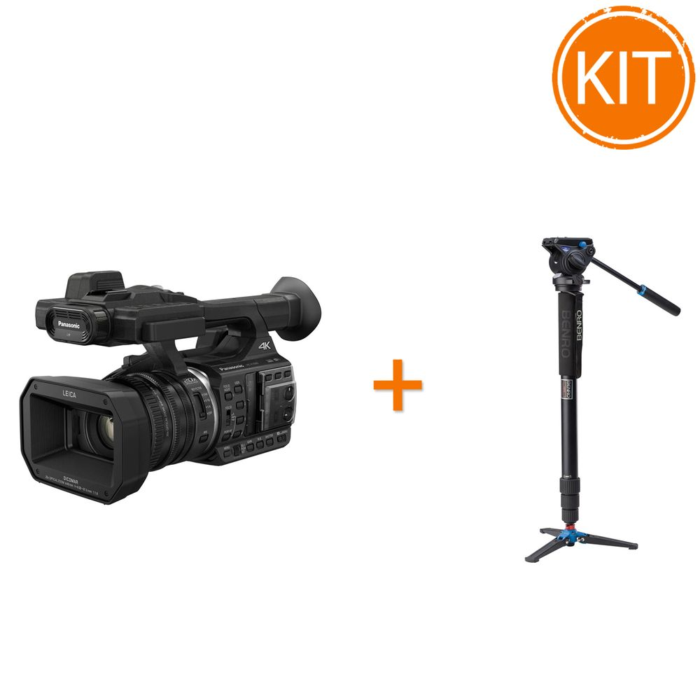 Kit-eveniment-camera-video-4K-Panasonic-HC-X1000---Monopied-cu-cap-fluid-Benro-A48TDS4