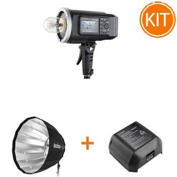 Kit-Blit-Portabil-Godox-AD600--TTL-600W---Acumulator-Suplimentar---Softbox-Parabolic-120cm
