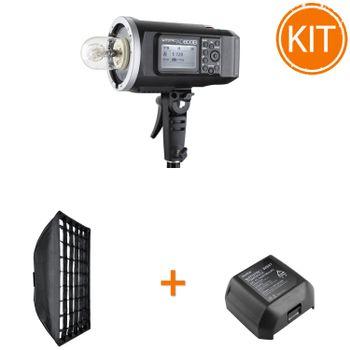 Kit-Blit-Portabil-Godox-AD600-TTL-600W---Acumulator-Suplimentar---Softbox-80x120cm