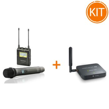 Kit-Vlogging-Live-cu-Streamer-Video---Microfon-reporter-wireless