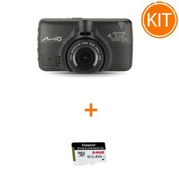 Kit-Mio-MiVue-798---Card-microSDXC-Kingston-64GB-Endurance