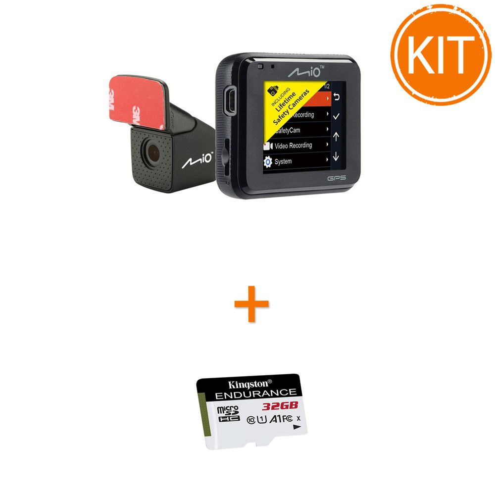 Kit-Mio-MiVue-C380---Card-microSDHC-Kingston-32GB-Endurance