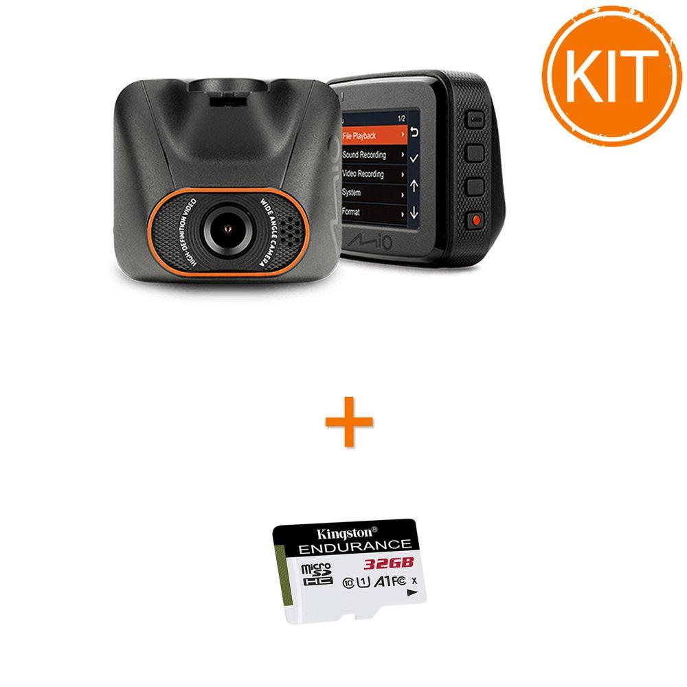 Kit-Mio-MiVue-C540---Card-microSDHC-Kingston-32GB-Endurance