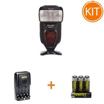 Kit-Phottix-Mitros-Plus-pentru-Nikon---Maha-Incarcator-MH-C204-si-set-4-acumualtori-2700mAh