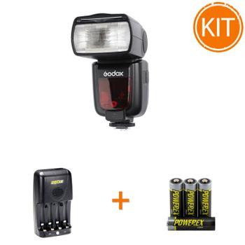 Kit-Godox-TT685O-pentru-Olympus---Maha-Incarcator-MH-C204-si-set-4-acumualtori-2700mAh