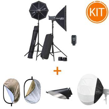 Kit-Entuziast-Blituri-Studio-Elinchrom-400W-cu-Modificatori-de-Lumina