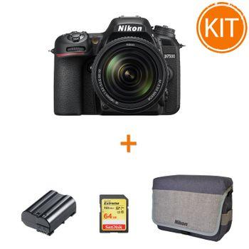 Kit-Nikon-D7500-cu-Obiectiv-18-140-mm---acumulator-replace--Power3000---Nikon-CF-EU11---SanDisk-Extreme-SDXC-64-GB