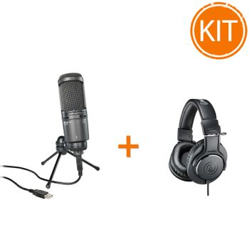 Kit-Inregistrare-Studio-Audio-Technica-cu-Microfon-AT2020USB--si-Casti-Profesionale-ATH-M20x