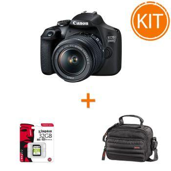 Kit-Canon-EOS-2000D-Kit-cu-Obiectiv-EF-S-18-55mm---Hama-Syscase-100---Kingston-32GB-SDHC