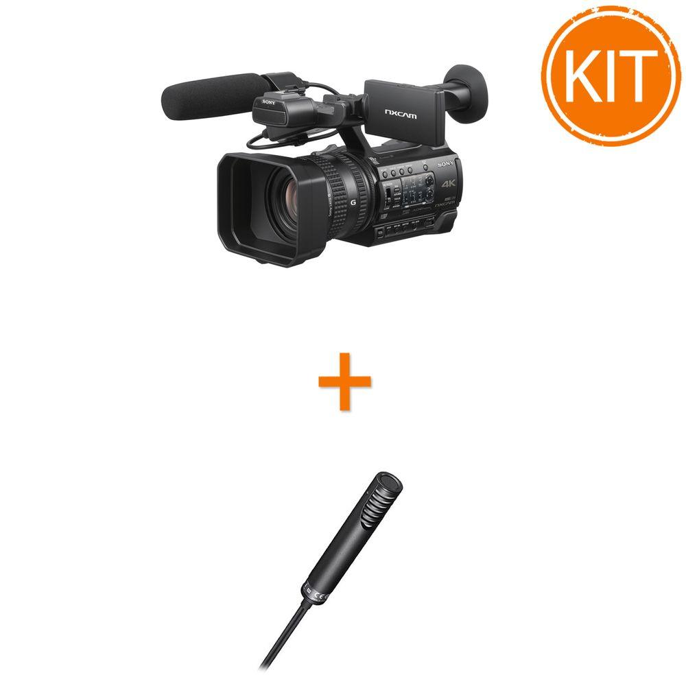 Kit-Video-Profesional-Sony-cu-Camera-Video-HXR-NX200-4K-Senzor-1-XAVC-S---Microfon-Electret-Condenser-Stereo-ECM-MS2