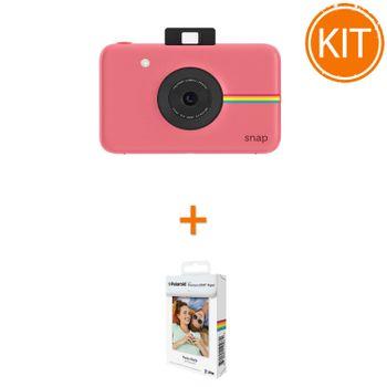 Kit-Aparat-Foto-Polaroid-Instant-Snap-Digital-Roz---Polaroid-Instant-Zink-Premium-Pachet-20-Hartii-Foto