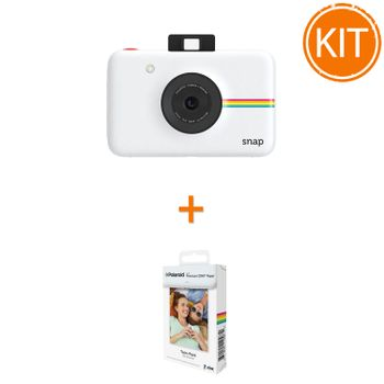 Kit-Aparat-Foto-Polaroid-Instant-Snap-Digital-Alb---Polaroid-Instant-Zink-Premium-Pachet-20-Hartii-Foto