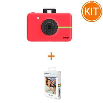 Kit-Aparat-Foto-Polaroid-Instant-Snap-Digital-Rosu----Polaroid-Instant-Zink-Premium-Pachet-20-Hartii-Foto