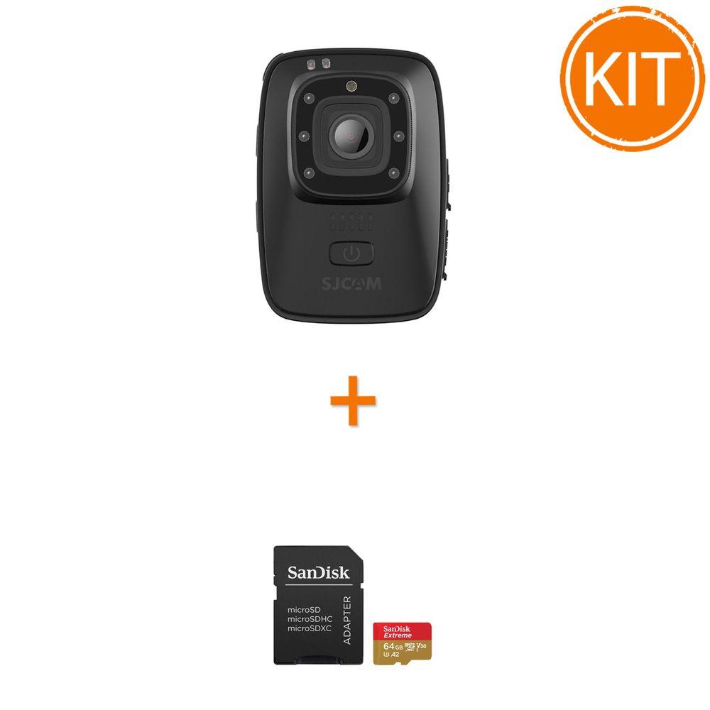 Kit-SJCAM-A10-Camera-Video-Corporala---Sandisk-Extreme-MicroSDXC-64GB