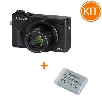 Kit-Canon-PowerShot-G7-X-Mark-III--Negru---Acumulator-Canon-NB-13L