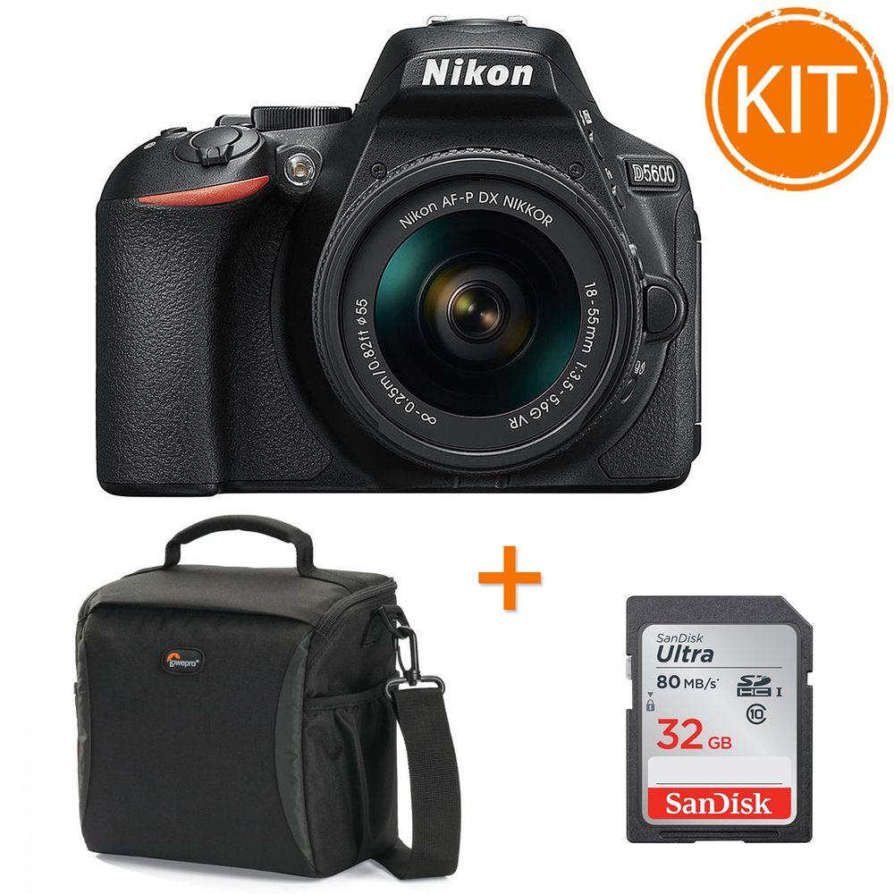 Kit-Nikon-D5600-cu-Obiectiv-18-55mm---Card-Sandisk-SDHC-Ultra-32GB-80MB---Geanta-Foto-Lowepro-Format-160