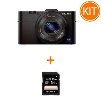 Kit-Sony-DSC-RX100-II---Sony-SDXC-64GB-Class-10-90MBs