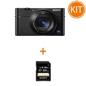 Kit-Sony-Cyber-Shot-DSC-RX100-VA----Sony-SDXC-64GB-Class-10-90MBs