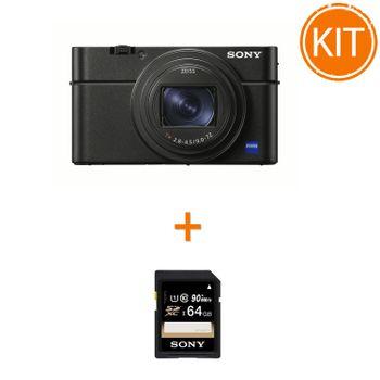 Kit-Sony-Cyber-Shot-DSC-RX100-VI----Sony-SDXC-64GB-Class-10-90MBs
