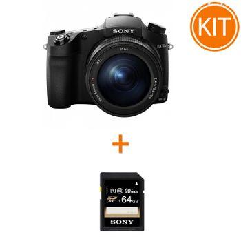 Kit-Sony-Cyber-shot-DSC-RX10-III---Sony-SDXC-64GB-Class-10-90MBs
