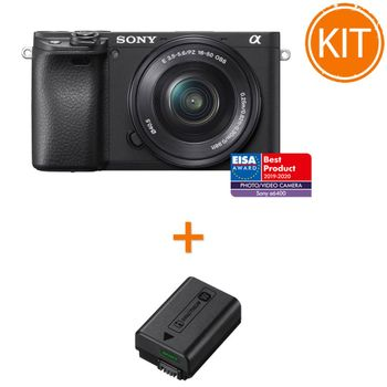 Kit-Sony-Alpha-A6400-cu-Obiectiv-16-50mm---Sony-NP-FW50-Acumulator-Original