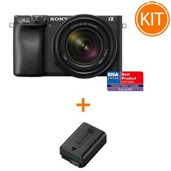 Kit-Sony-Alpha-A6400-cu-Obiectiv-18-135mm---Sony-NP-FW50-Acumulator-Original