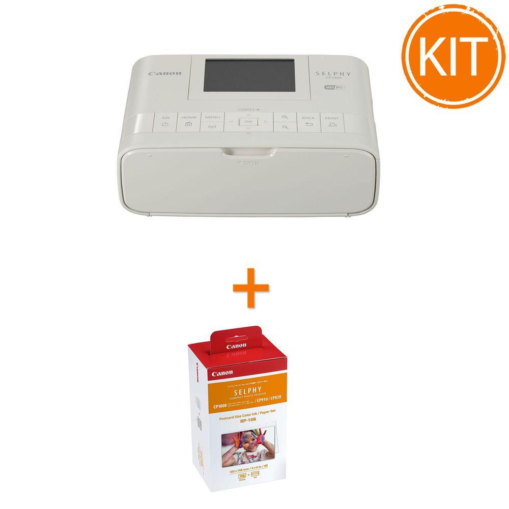 Kit-Canon-Selphy-CP-1300-Alb---Set-Hartie-si-Toner-RP-108