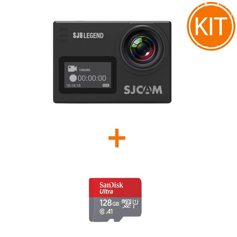 Kit-SJCAM-SJ6-Legend--4K-16MP-Negru---Sandisk-Ultra-MicroSDXC-128GB