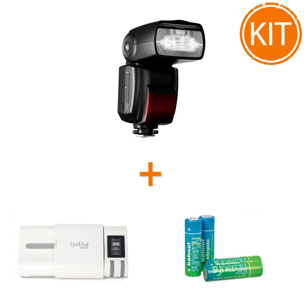 Kit-Hahnel-MODUS-600RT---Blit-TTL-pentru-Nikon---Incarcator-Unipal-Plus---4-acumulatori
