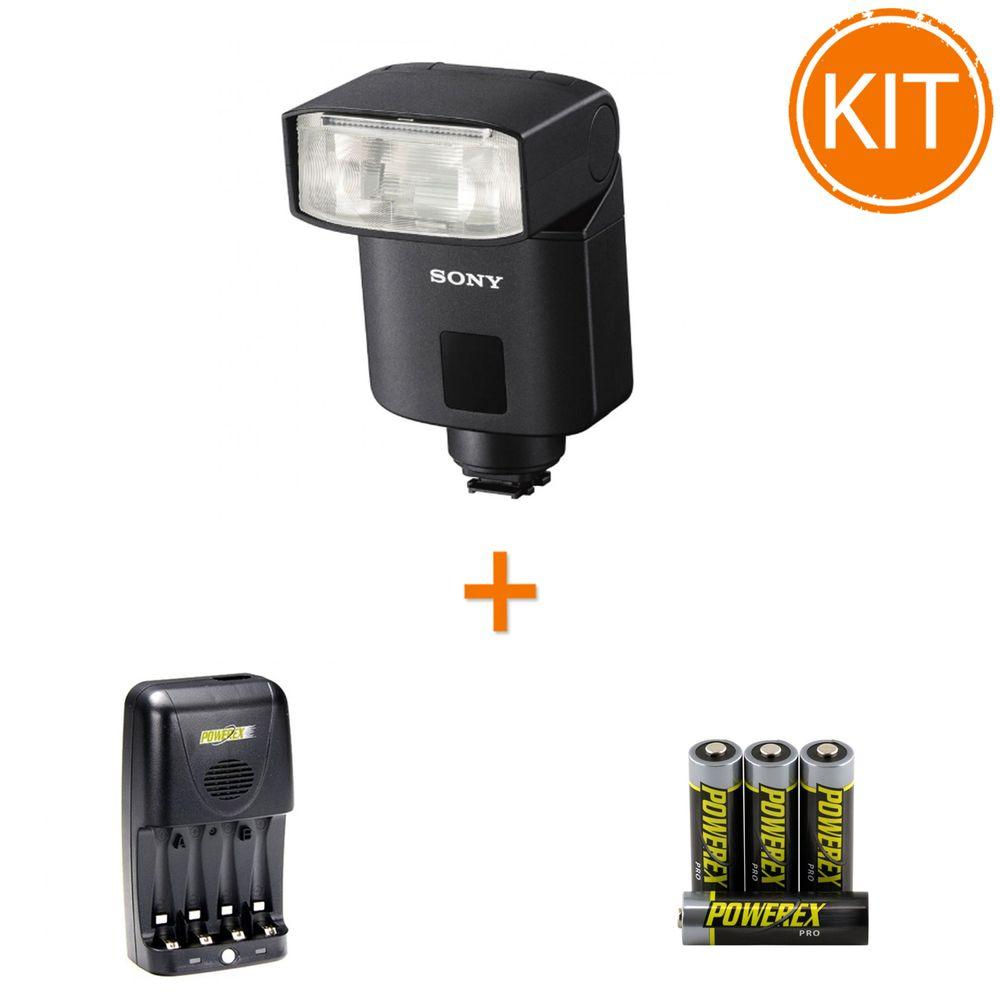 Kit-Sony-HVL-F32M-blitz---Maha-incarcator-si-4-acumulatori-2700mAh