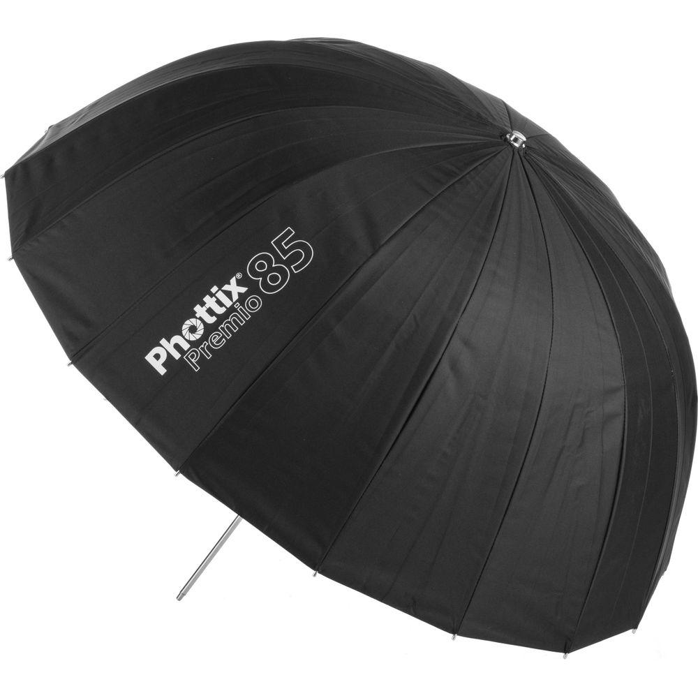 Phottix-Premio-Umbrela-Reflexie-85cm-SilverBlack