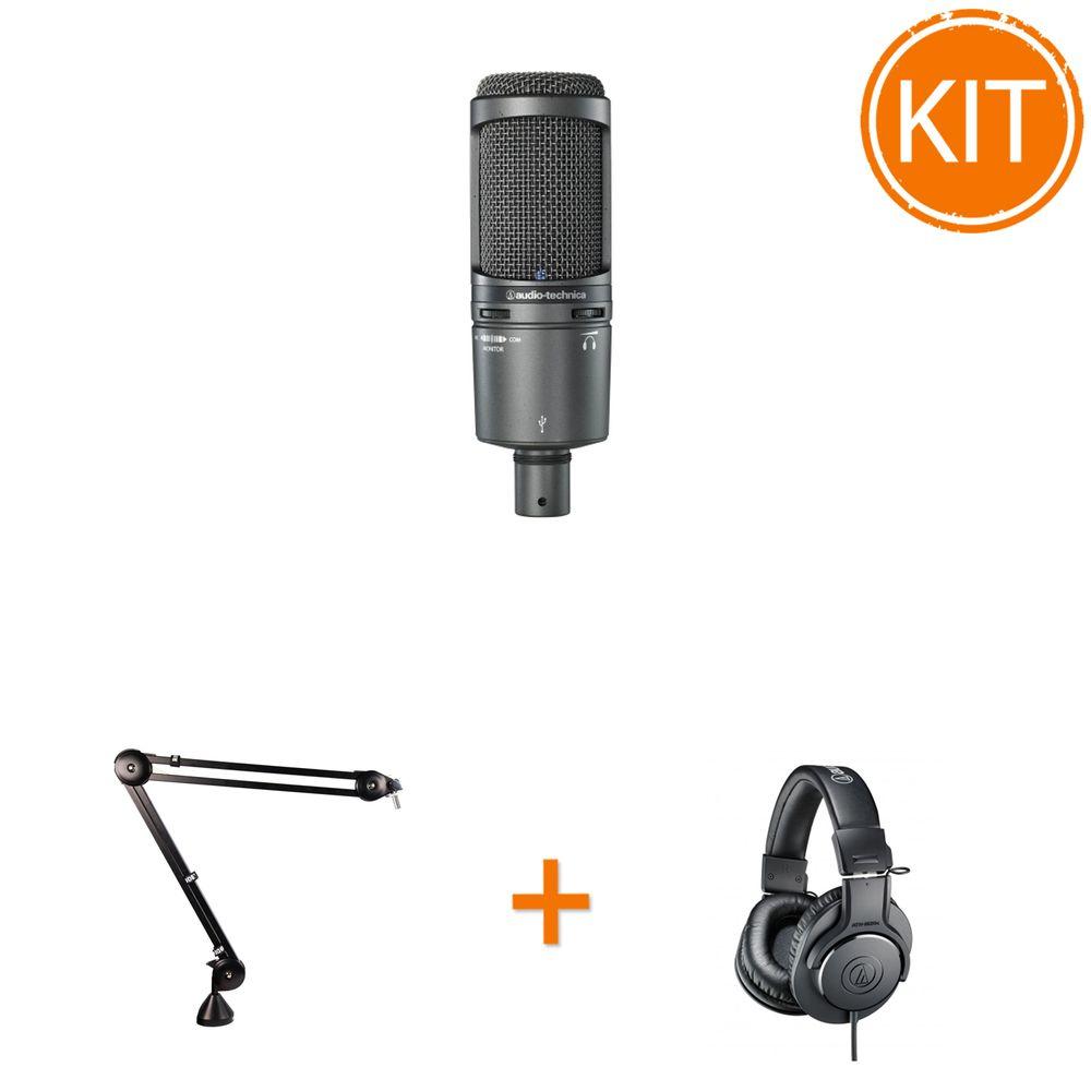 Kit-Microfon-Studio-USB---Brat-Articulat---Casti-Profesionale