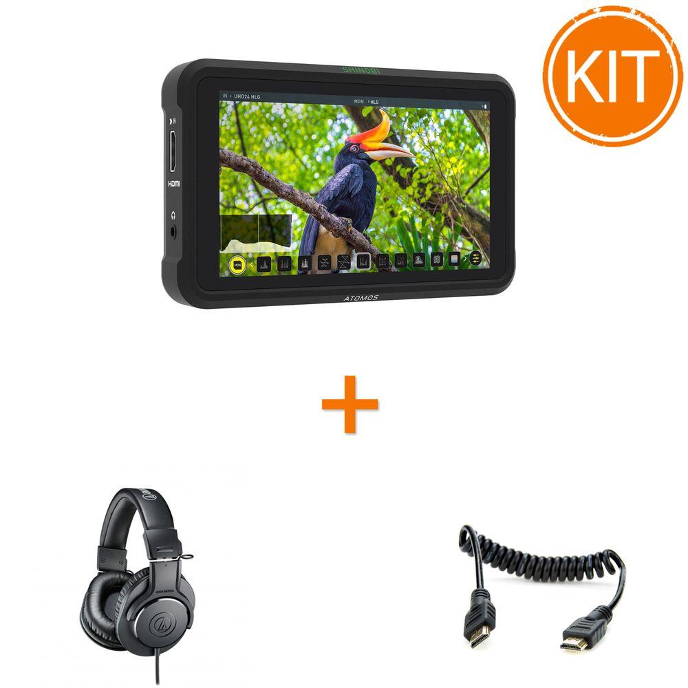 Kit-Monitorizare-On-Set-cu-Monitor-Atomos---Casti-Profesionale---Cablu-HDMI