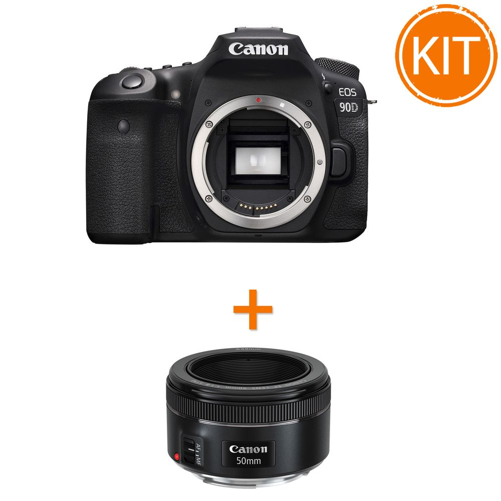 Kit-Canon-EOS-90D-Body---bonus-Canon-EF-50mm-f1