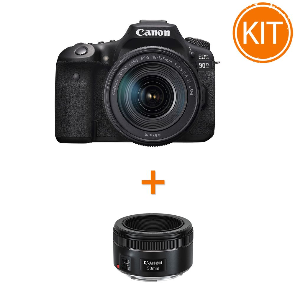 Kit-Canon-EOS-90D-cu-Obiectiv-18-135mm---bonus-Canon-EF-50mm-f1