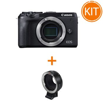 Kit-Canon-EOS-M6-Mark-II-Body---Canon-adaptor-EF-M---EF--EF-S