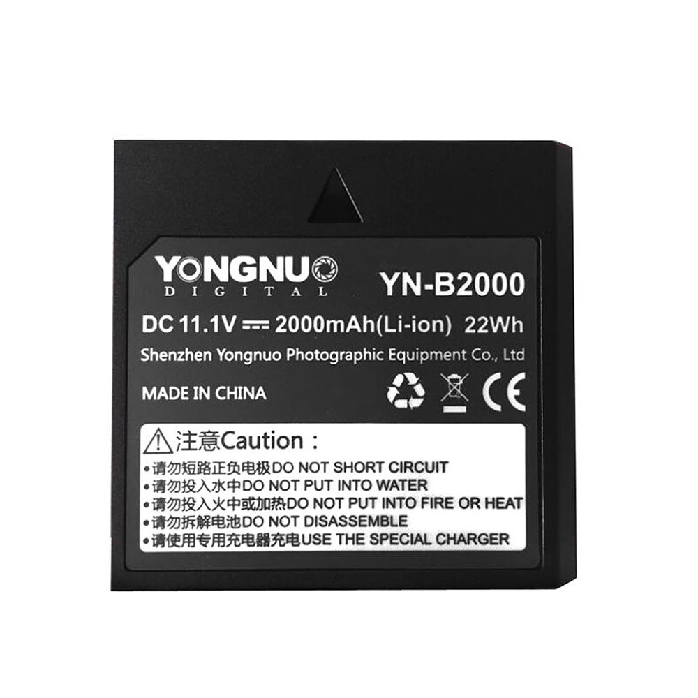 Yongnuo-YN-B2000-2000mAh-Spare-Rechargeable-Li-ion-Battery-for-Speedlite-YN686EX-RT-Flash-Light-YN686