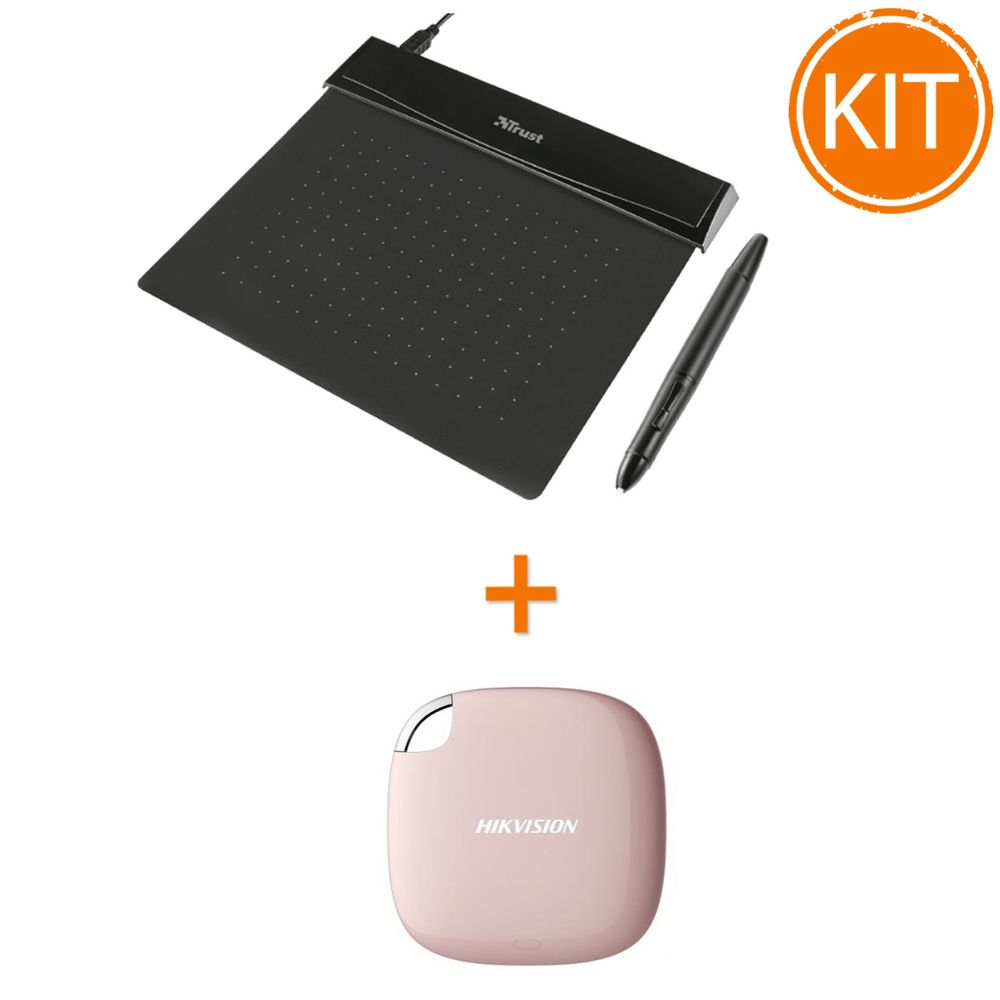 Bundle-Tableta-grafica-Trust-Flex---Hikvision-SSD-extern-120GB