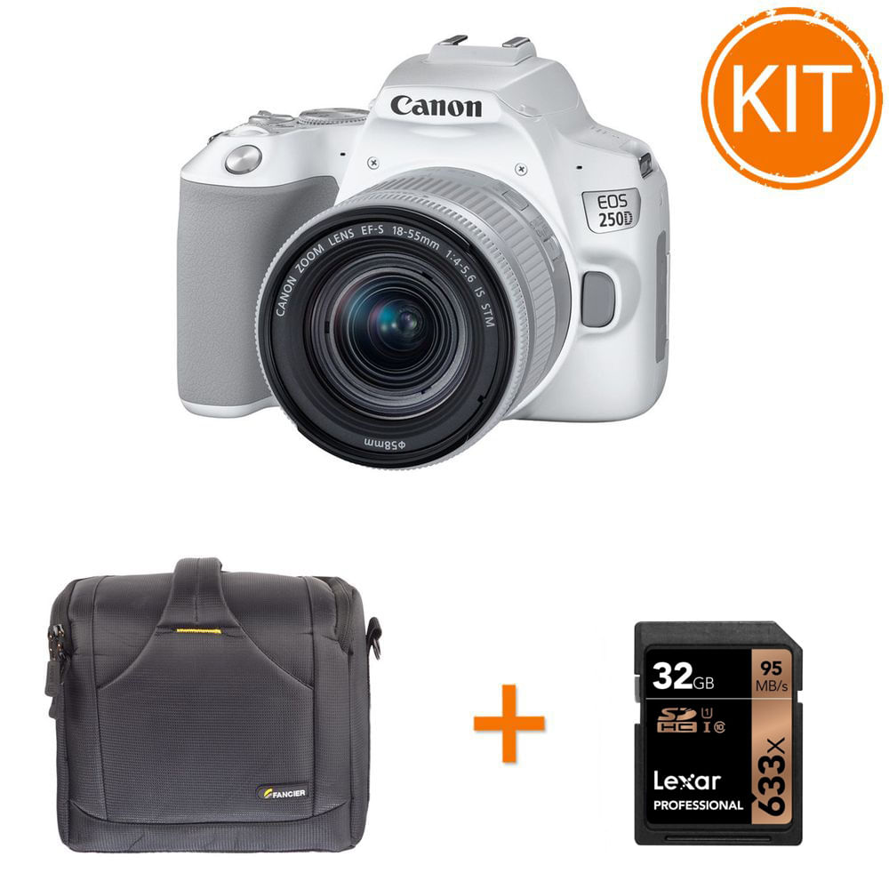 Kit-Canon-EOS-250D-cu-Obiectiv-EF-S-18-55mm-Alb---Geanta-Foto-Fancier-BEE-60---Card-Memorie-Lexar-SDHC-32GB-633x