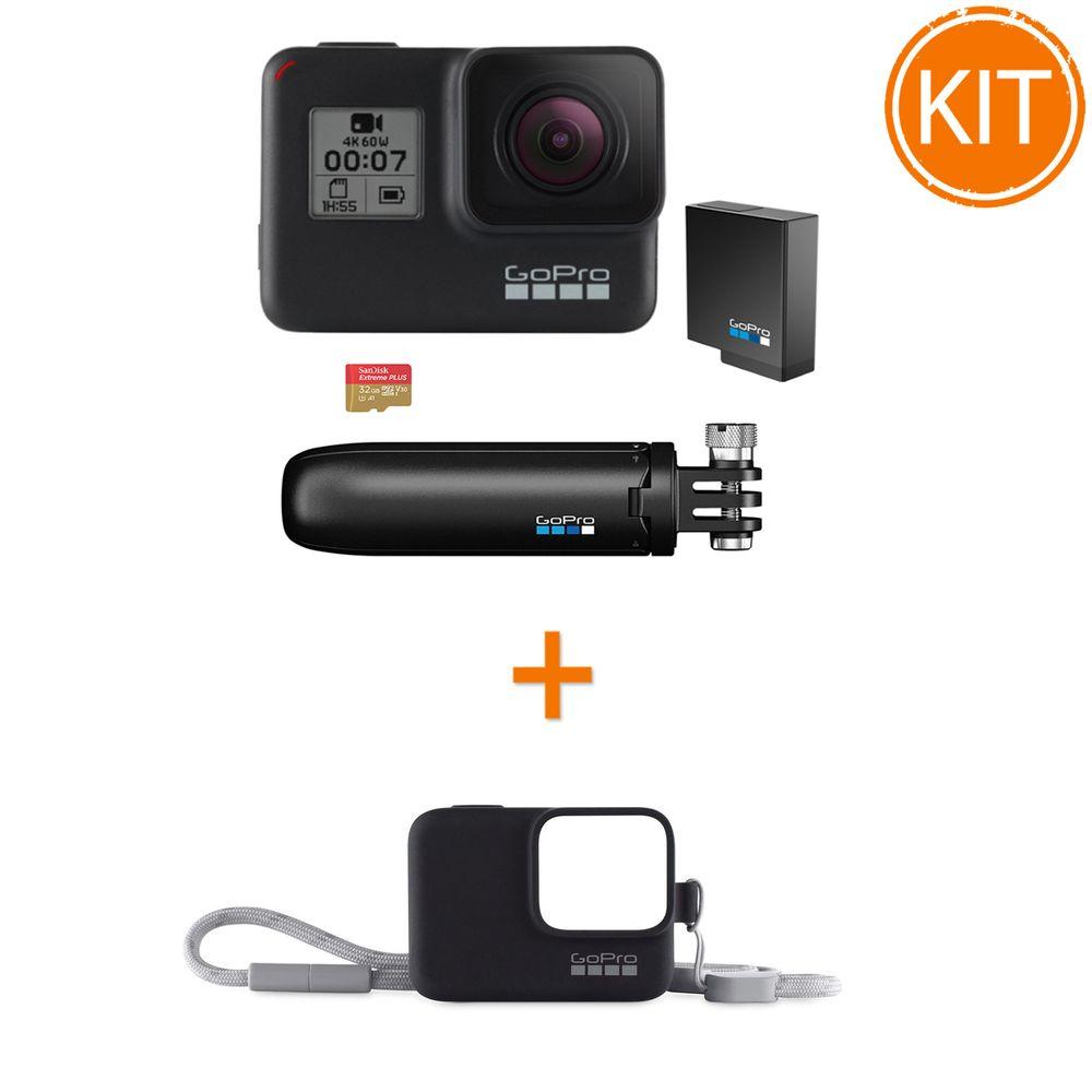 Kit-GoPro-Hero-7-Black-Bundle---GoPro---Sleeve---Lanyard
