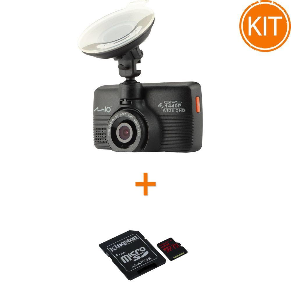 Kit-Mio-MiVue-751-Camera-auto-DVR---Kingston-64GB-microSDXC-Canvas-React