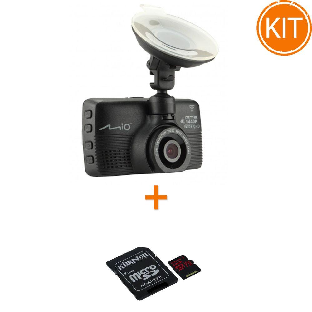 Kit-Mio-MiVue-752-WIFI-Dual---Kingston-64GB-microSDXC-Canvas-React