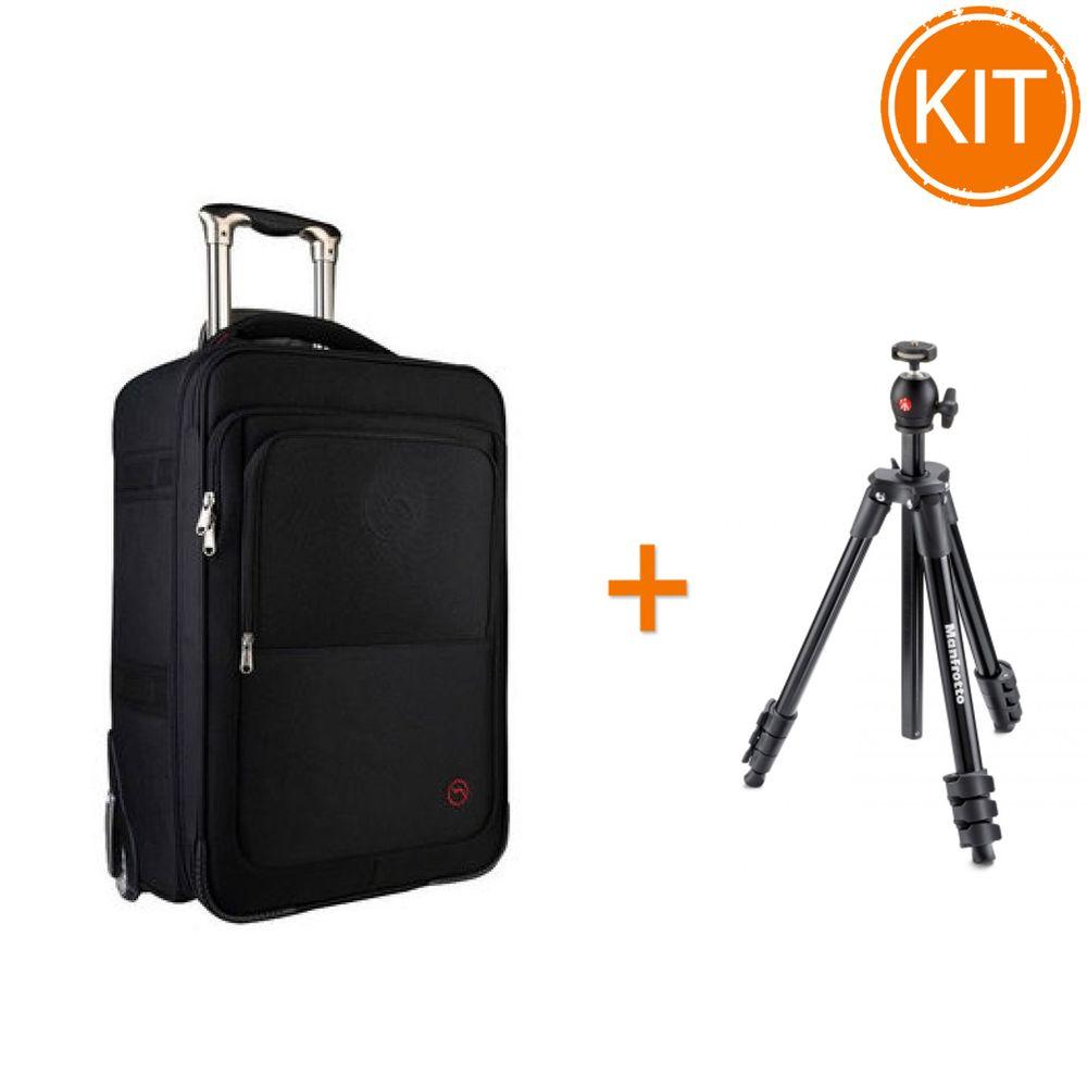 Kit-Fancier-Troller-Nest-Odyssey-20---Manfrotto-Compact-Light-Black