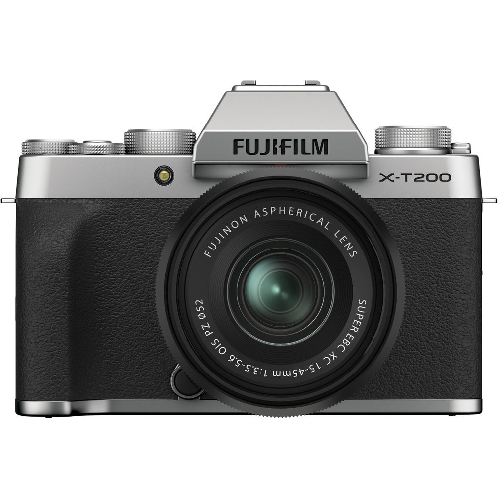 Fujifilm-X-T200-Aparat-Foto-Mirrorless-24.2-MP-Kit-cu-Obiectiv-15-45mm-Silver