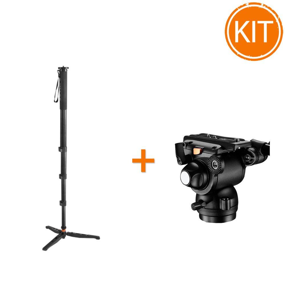 Kit-Monopied-Video-Profesional-Fancier-MA800---Fancier-GH03-Cap-Fluid