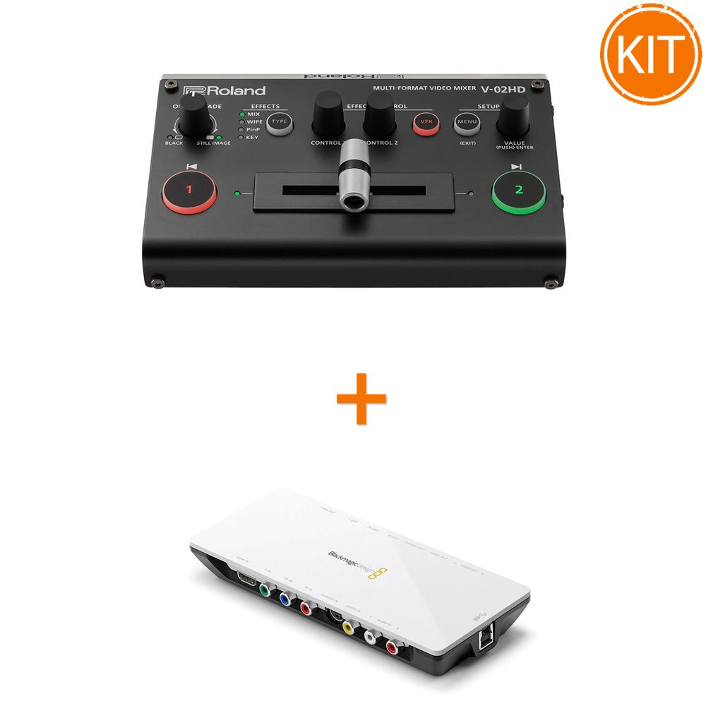 Kit-Live-2-Camere-cu-Switcher-Roland-V-02HD-Full-HD-2-Canale---Placa-de-Captura-Blackmagic-Intensity-Shuttle-USB