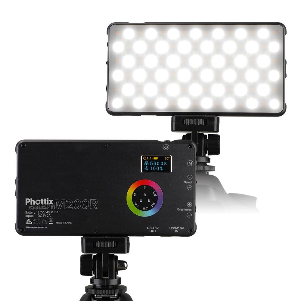 Phottix-M200R-Panou-RGB-LED-si-Power-Bank