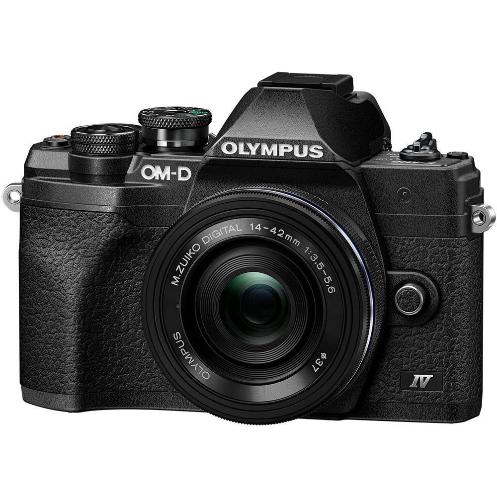 Olympus-OM-D-E-M10-Mark-IV-Kit-cu-Obiectiv-14-42mm-Black